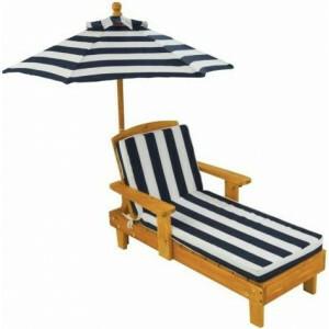 Holz Liegestuhl mit Sonnenschirm - Kidkraft (00105)