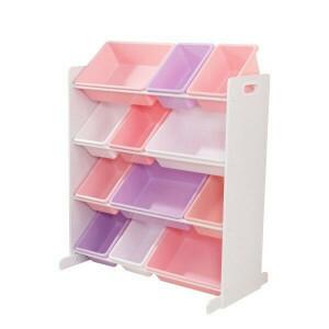 Schrank mit 12 Aufbewahrungsbehältern (Pastellfarben) - Kidkraft (15450)