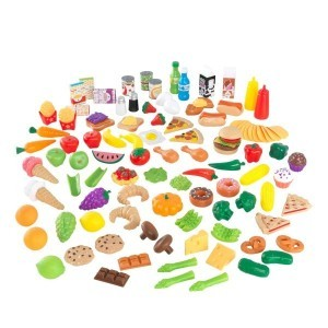 Luxe 115-Stück Spiel-Lebensmittel XXL (Counterfeit Lebensmittel) - Kidkraft (63330)