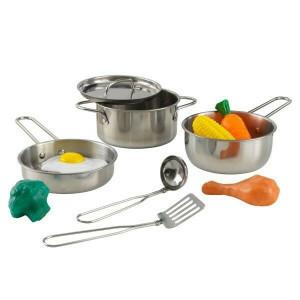 Deluxe Metallkochwerkzeuge mit Lebensmitteln - Kidkraft (63186)
