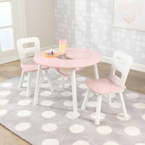 Kindersitzgruppe Mit Tisch 2 Stühlen Rosa Kidkraft 26165