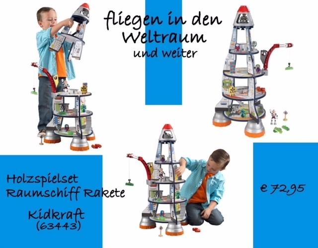 Holzspielset Raumschiff Rakete - Kidkraft (63443)
